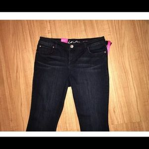 INC Regular Bootcut sz 10 jeans dark blue NWT